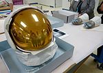 Neil Armstong's Apollo 11 Lunar EVA Helmet (27730856950).jpg