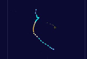 Hurricane Neki - Image: Neki 2009 track