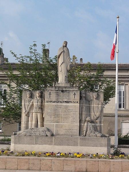 Neufchâtel-sur-Aisne (Aisne) Monument aux morts groupe de résistance