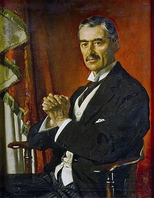 National Government (United Kingdom) - Neville Chamberlain was chosen to succeed Baldwin and became Prime Minister in 1937