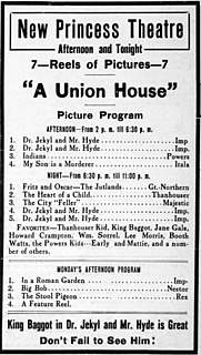 <i>Dr. Jekyll and Mr. Hyde</i> (1913 film) 1913 American film directed by Herbert Brenon