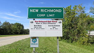 New Richmond, Ohio - New Richmond corporation limit sign