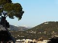 Nice - Vue du Mercantour et de l'observatoire de Nice depuis le sommet de la colline du château de Nice.JPG