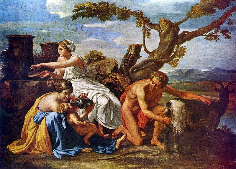 File:Nicolas Poussin - Jupiter enfant nourri par la chèvre Amalthée.jpg
