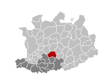 Location of Nijlen in the province of Antwerp