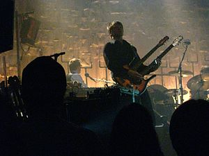 Nels Cline - Cline playing a double-necked guitar with Wilco in 2010