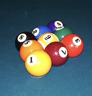 Nine-ball Type of cue sport