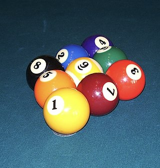 Nine-ball type of sport