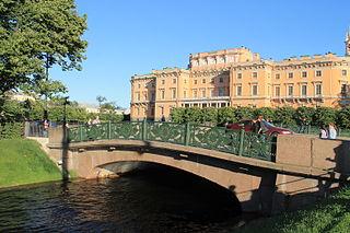 Lower Swan Bridge Bridge in Saint Petersburg