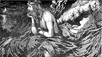 Njörðr - Njörd's desire of the Sea (1908) by W. G. Collingwood