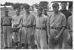 No Known Restrictions Ball team at Irwinville Farms, Georgia by John Vachon, 1938 LOC 2106518804.jpg
