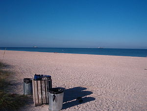Nokomis, Florida - View from Nokomis Beach, outside the Nokomis CDP, early on a summer morning