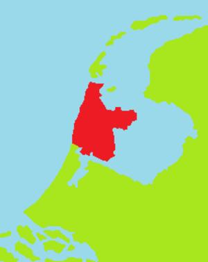 Noorderkwartier - Location of the Noorderkwartier in the Netherlands