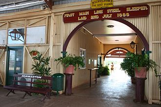 Normanton railway station, Queensland - Entrance to the railway station, 2010
