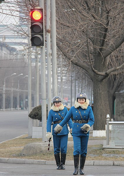 File:North Korean traffic police in Pyongyang (12074843383).jpg