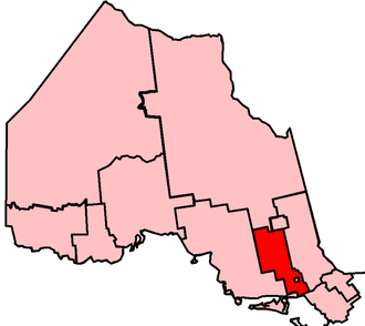 Nickel Belt (provincial electoral district) - Nickel Belt in relation to other electoral districts in Northern Ontario