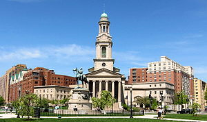 Thomas Circle - John Russell Pope's National City Christian Church stands in the northwest corner of Thomas Circle
