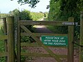 Notice on footpath, Stokeley Meadow - geograph.org.uk - 1358737.jpg