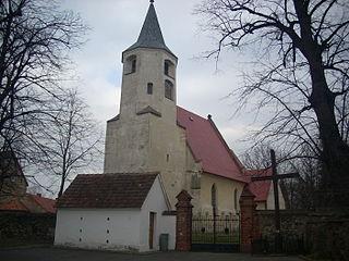 Nowizna Village in Lower Silesian Voivodeship, Poland