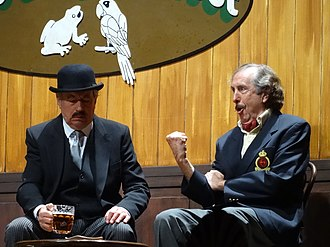Eric Idle - Eric Idle and Terry Jones performing Nudge Nudge in 2014.