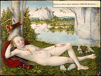 Lucas Cranach the Younger - Image: Nymph of the Spring MET DT3097