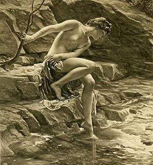 Potamides (mythology) -  The Nymph's Bathing Place by Edward Poynter, 1904.