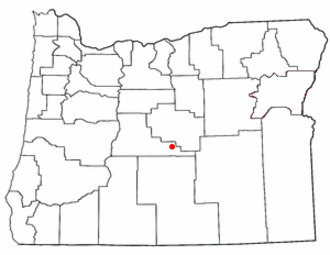 Brothers, Oregon - Image: OR Map doton Brothers