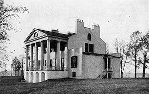 Oak Hill (James Monroe House) - Rear view, 1915