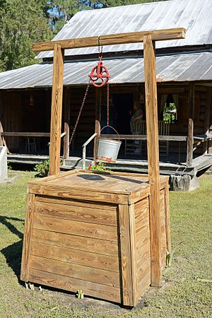 Obediah Barber Homestead - Image: Obediah Barber Homestead well, Ware County, GA, US