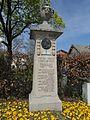 Obere Hammerstraße 1; Denkmal für Franz Xaver Gabelsberger, 1913; Ecke Wasserburger Straße..JPG