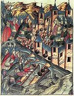 Осада козельска в 1239 году миниатюра xvi