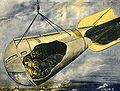 Observatory car suspended from Zeppelin Scientific American 1916-12-23 crop5.jpg