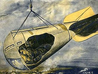 Spy basket - Observatory car drawing from a December 1916 Scientific American cover