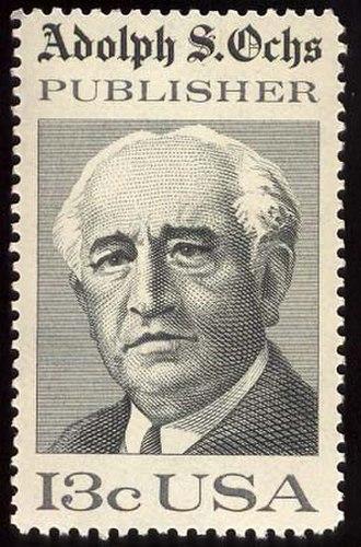 Adolph Ochs - A 1976 U.S. Postage Stamp commemorating Ochs.