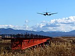 Odate-Noshiro Airport Approach light 2018b.jpg
