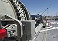 Office of Naval Research-funded Electromagnetic Railgun launchers on USS Millinocket.jpg