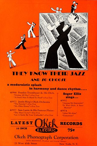 Okeh Records - 1928 advertisement