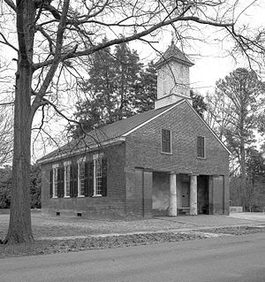 Mooresville, Alabama - Image: Old Brick Church built in 1839, Mooresville, AL, image by Marjorie Kaufman