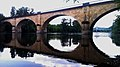 Old railwaybridge over the Dordogneriver, now in use as a cycle-track. Photo taken by Yoka the ambulance nurse - panoramio.jpg