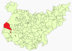 Location of the Olivenza/Olivença territory in the Portuguese-Spanish border