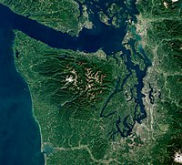 Olympic Peninsula with Puget Sound by Sentinel-2, 2018-09-28 (small version).jpg
