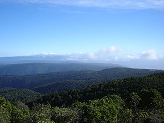 Chilean Coast Range - View from Cerro Oncol