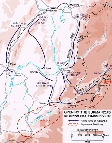 Northern Combat Area Command's operations Opening the Burma Road October 1944 - January 1945.jpg