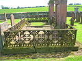 Ornamental ironwork, Dunscore Old Kirk.JPG