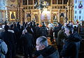Orthodox Church Tradition - Mystery of Holy Communion of sharing prosphora and wine..JPG