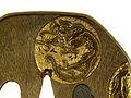 Otsuki Mitsuhiro - Tsuba with Roundels Depicting Dragons - Walters 51107 - Detail.jpg