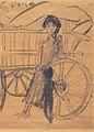 Otto Mueller - Zigeunerin mit Kind am Planwagen - ca1926.jpeg