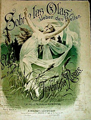 Sobre las Olas - Piano sheet music for the piece (Germany)