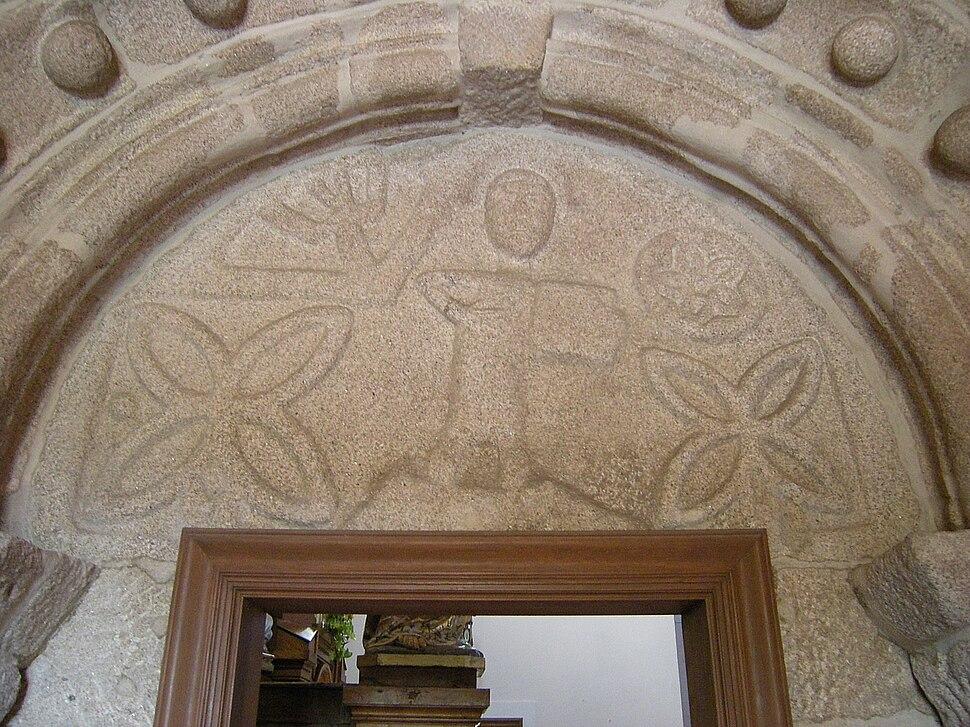 Pórtico da igrexa de Santa Cristina da Ramallosa, Baiona