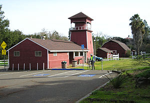 Monta Vista, Cupertino, California - Old farm buildings are preserved at the McClellan Ranch Park.